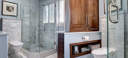 bathroom renovations edmonton - custom shower
