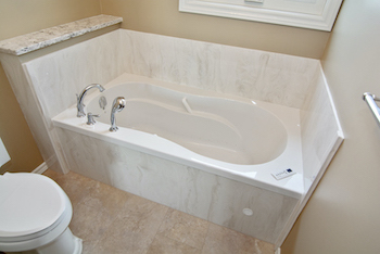 bath renovations edmonton - marble stone bathtub