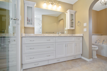 professional bath renovations edmonton - newly renovated bathroom