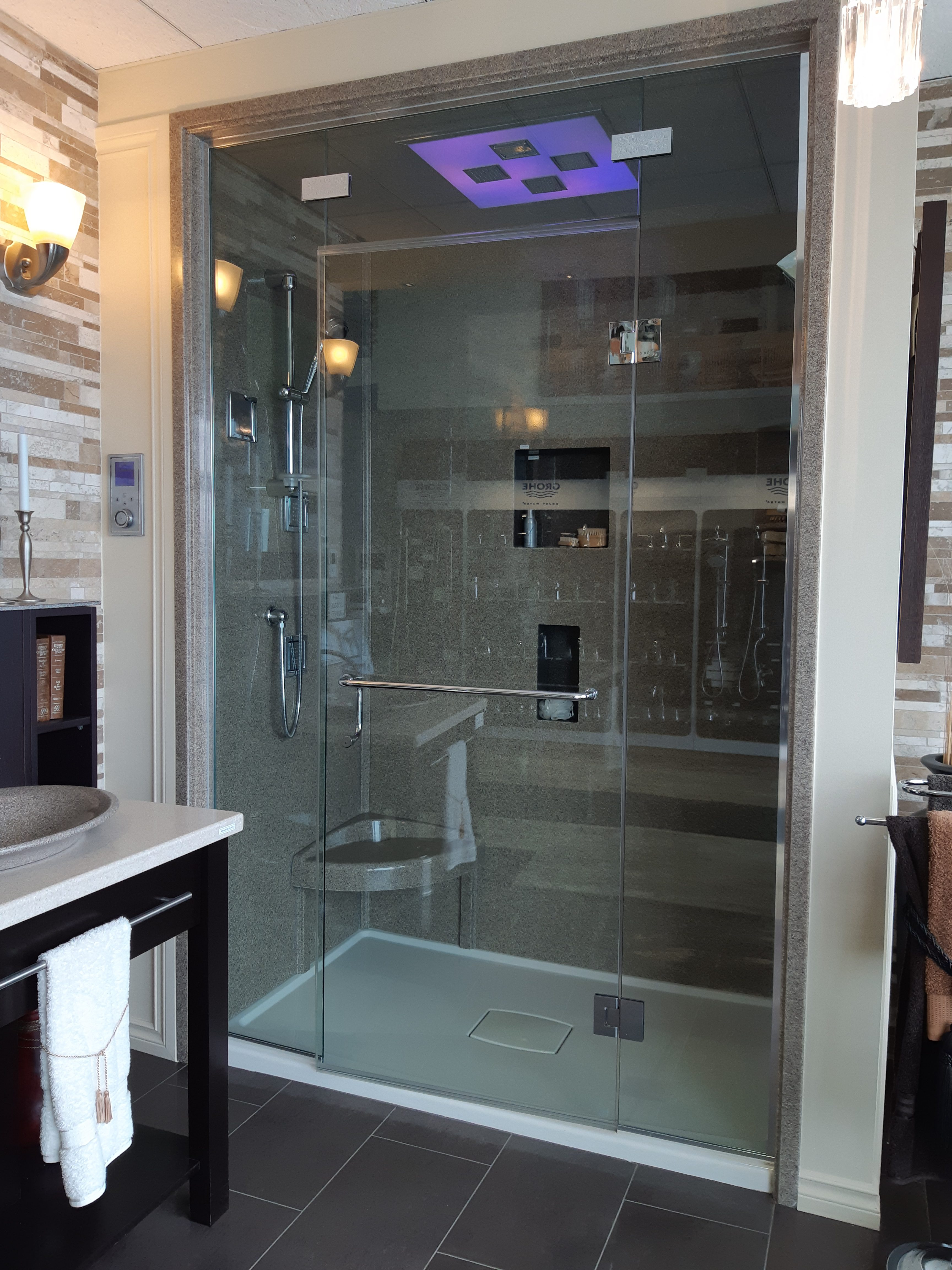 Steam Showers - Edmonton - Independent bath - picture outside of steam shower